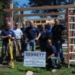 Bennett Team at Installation